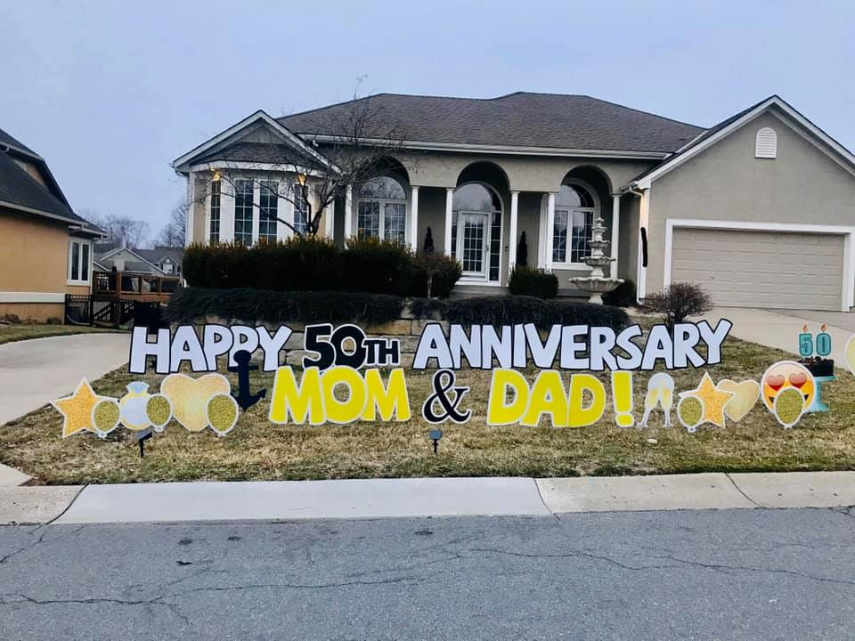 anniversary yard signs