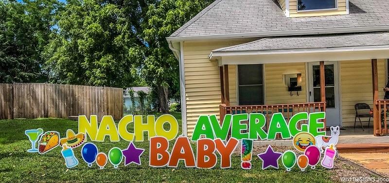 baby shower yard card