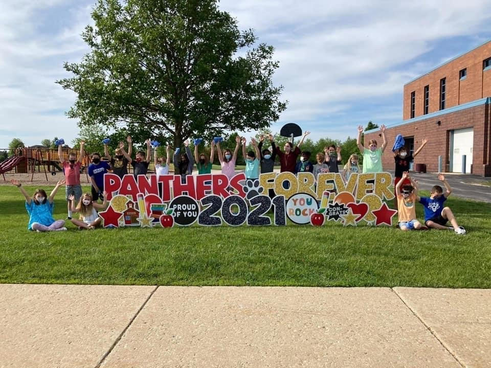 celebrating back to school with parties and yard signs