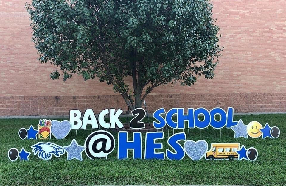back to school signs for the yard