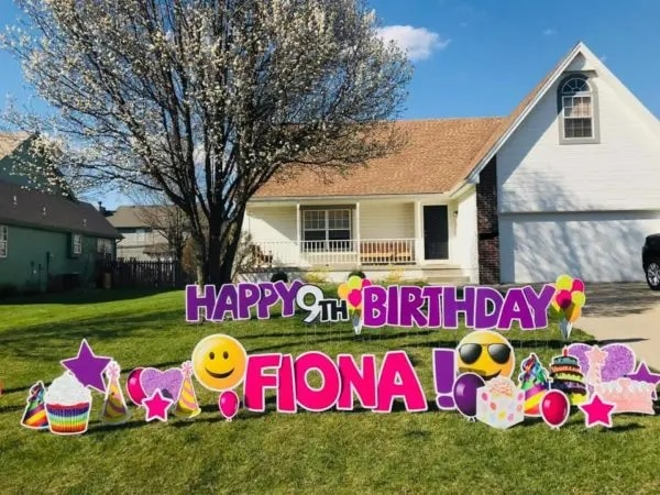 birthday yard sign rentals