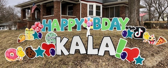 cass county birthday lawn sign