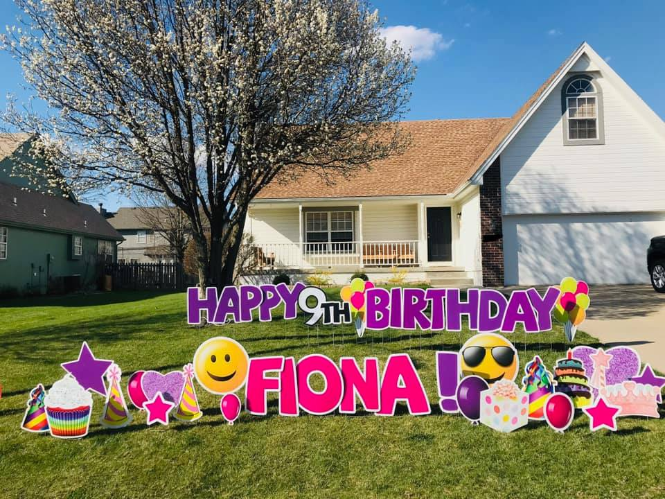 yard designs for birthdays