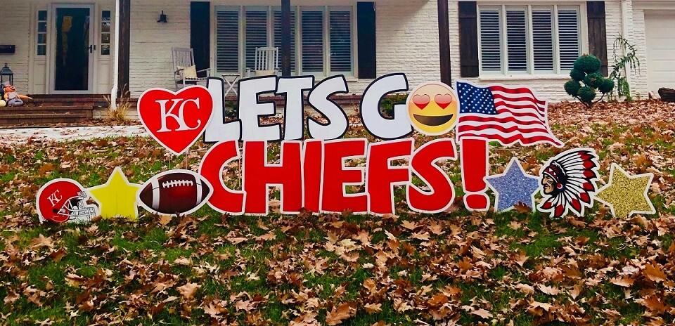 go chiefs yard sign