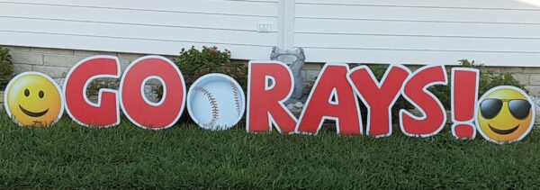 tampa yard sign rays baseball