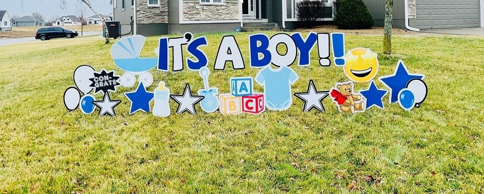 lees summit baby shower yard sign