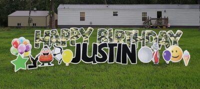 sedalia birthday lawn signs near me