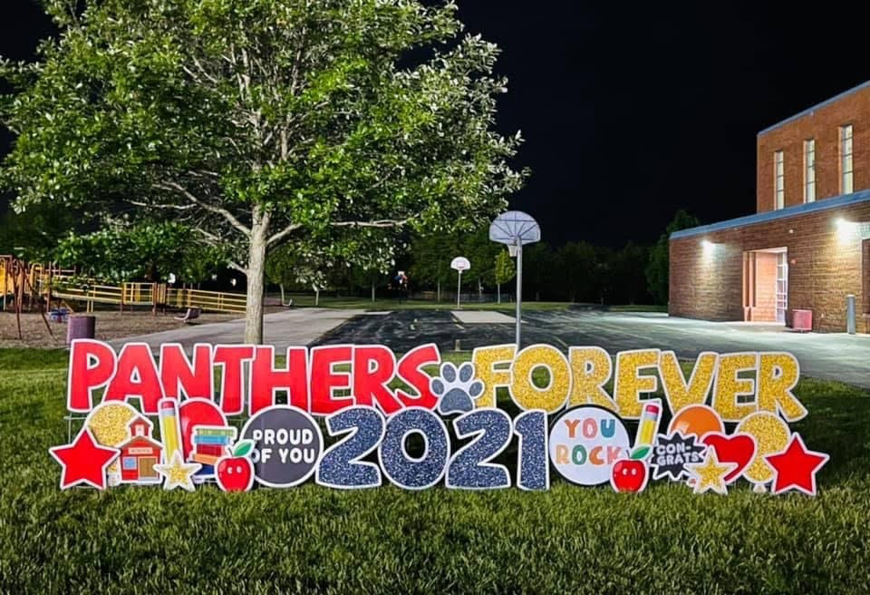 celebrating back to school with yard signs from Yard deSIGNS