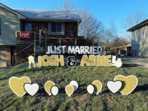 cute personalized wedding signs