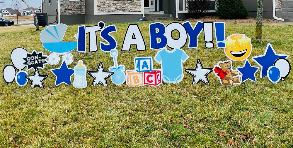 yard sign rental for baby shower